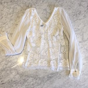 Dolce & Gabbana crochet blouse with lace detail
